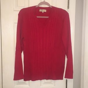 Red Vneck sweater
